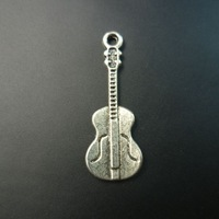 250 pcs/lot guitar alloy tibet silver floating charms pendants Free shipping