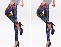 Retail&amp;Wholesale fashion lady Galaxy Leggings Cheap women Sexy Stretch Crop/Tights/Pants Free size