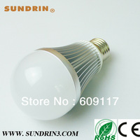 DHL free shipping led dimmable bulb AC110/220V warm white 7w 9w 12w each one piece for sample order
