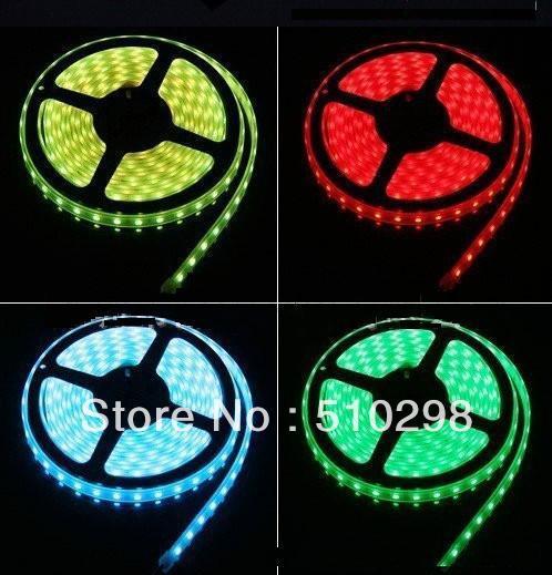 RGB 5050 SMD LED Waterproof Strip Light + Remote Control 24key + Adapter 12V 72W 6A free shipping(China (Mainland))