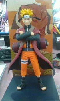 Free shipping PVC anime toys Naruto Shippuden Naruto fairy mode Anime decoration toys PVC 20cm Height