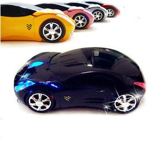 Free shipping New 2.4Ghz 1600DPI 3D Car Shape Wireless Optical Mouse Mice for Laptop PC USB Receiver computer wireless mouse(China (Mainland))