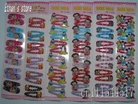 Free Shipping  Girls Minnie Mouse/hello kitty hair clips Prong Pin Barrette Baby Lots Mix color
