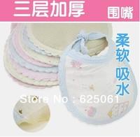 10pcs/lot Baby Bibs baby drool Towels cotton Baby bibs Free shipping