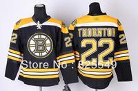 Free Shipping,Cheap Wholesale Ice Hockey Jersey,Boston  #22 Shawn Thornton Jerseys,Embroidery logos,Size 48-56,Mix order