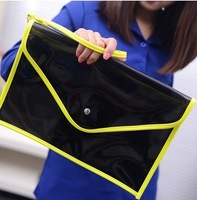 Hotsale 2013 Fashion Neon Color PVC Women Envelope Clutch Designer Jelly Chain Transparent Clutch Shoulder Bag