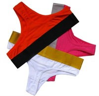 mix order sexy ladies g-string panties cotton underwear multi-colors comfortable women boxer briefs hot t back thong size m,l,xl