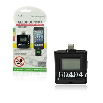 iPega Digital Breath Alcohol Analyzer Tester Breathalyser for iPod touch 5 iPhone 5 iPad 4 iPad mini, Free of Shipping