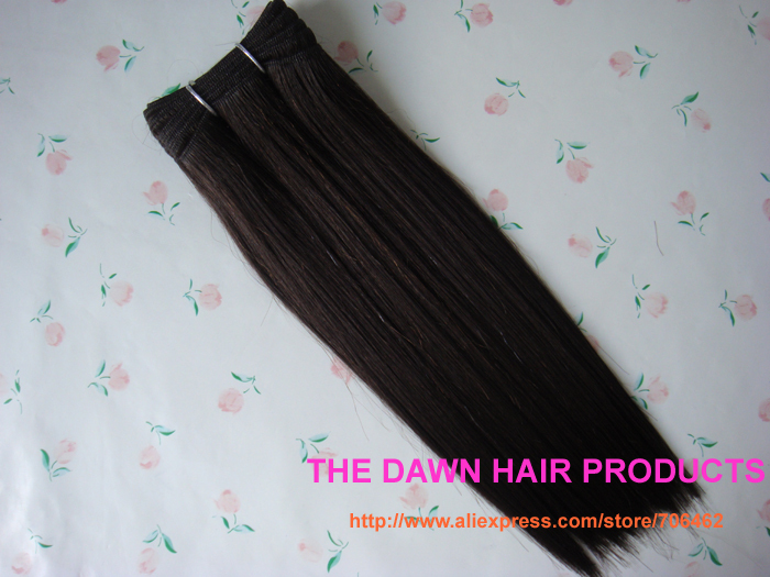 "Free Shipping Blended (50% Human Hair&50% Heat Resistant Fiber) Straight New Yaky Hair Weave Color 4# Length 10""-22""(China (Mainland))"