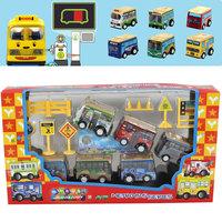 Plastic barrowload WARRIOR set toy car 6 bus road-line 3c