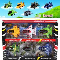 Plastic small WARRIOR set toy 6 3c