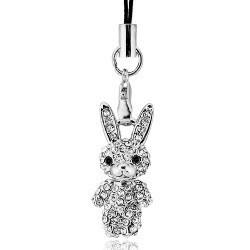 Young girl cell phone accessories rabbit mobile phone pendant - 2578(China (Mainland))