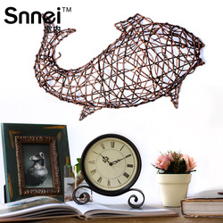 Indoor decoration fashion rustic wall hanging rattan fish muons personalized vintage home nostalgic(China (Mainland))