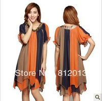 Summer wear loose han edition dress chiffon dress code for free shipping