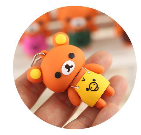 Lovely Apron Bear Shape USB 2.0 Flash Drive 1GB 2GB 4GB 8GB 16GB 32GB Gift,Freeshipping(China (Mainland))