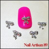 Alloy Nail Art 3D Bowtie Rhinestone Nail Design Decoration Supply 20psc/lot Size: 7*6mm #B304