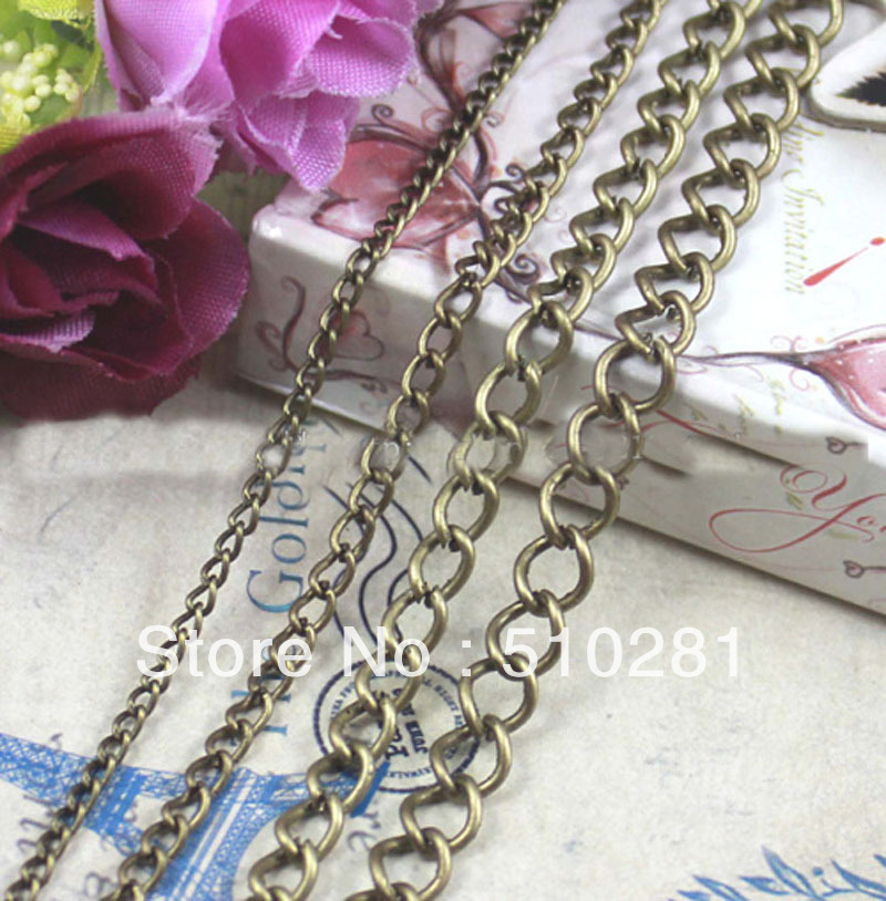 IRON vintage copper color L84 , 4.5mm necklace accessories ,100meters/lot ,hot on sale ,free shipping(China (Mainland))