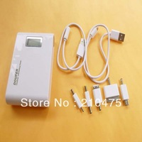 5V 10000mAh 37Wh LCD Mobile Power Bank with Flashlight