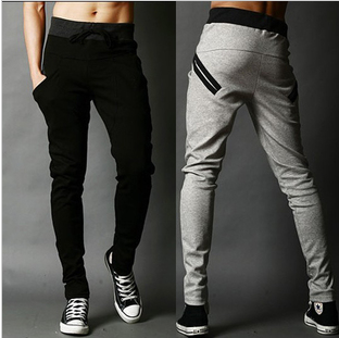 Free shipping New Arrival sports pants for men korean cool harem pants trousers long,casual slacks,pocket design sweatpants(China (Mainland))