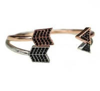 Vintage arrow cuff bangle black rhinestone bracelet free shipping ,Min order $15