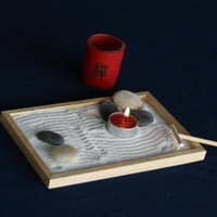 Zen graden japanese style sand table candle table yoga supplies sand table unique decoration