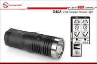 Free shipping sunwayman D40A CREE XM-L2 LED 4*AA Compact Thrower Light 980 Lumens flashlight  Waterproof Rescue Search Torch