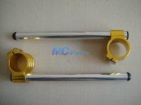 Free shipping Universal Adjustable CNC 36MM Fork Tube Clip Ons Handle Bar Handlebars Gold 02
