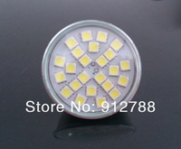 MR16 GU5.3 6W 500-Lumen 24 5050 SMD LED Warm White/Cool white Wholesale product  Light Bulb DC12V Use for home