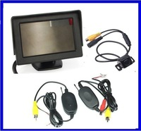 Wireless 4.3 LCD display+170 reverse car rear camera backup camera Angle parking sensor car camera