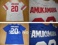 Wholesale-Free Shipping Cheap 2013 New Style American Football Jersey Prince Amukamara #20 White Blue Mix Order Drop Shipping
