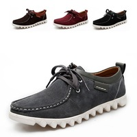 High quity New fashion 2013  men Genuine Leather shoes man's shoes Spring / Autumn sneakers Outdoor boots Wear non-slip px2035