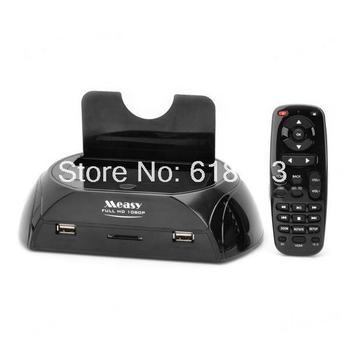 "USB 3.0 2.5""/3.5"" SATA HDD Docking + Full HD 1080P Media Player w/ Remote Control - Black"