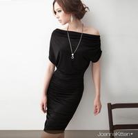 2013 slit neckline slim sexy hip slim dress one-piece dress  free shipping