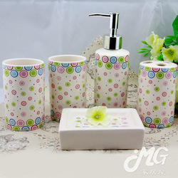 Ceramic five pieces set bathroom set bathroom supplies toiletries cleaning household items(China (Mainland))