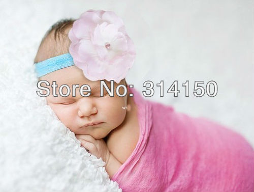 FREE SHIPPING----baby girl hairband hair accessories children headwear pretty flower ornament head band girl elastic band 1pcs(China (Mainland))