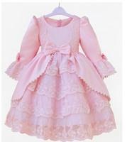 2013 Girl Party Dress Lovely Princess Dress Long Sleeve/Short Sleeve Evening Dress  retail Size 80cm-150cm
