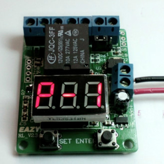 DC 12v relay board LED red time relay timing voltmeter detection control switch(China (Mainland))