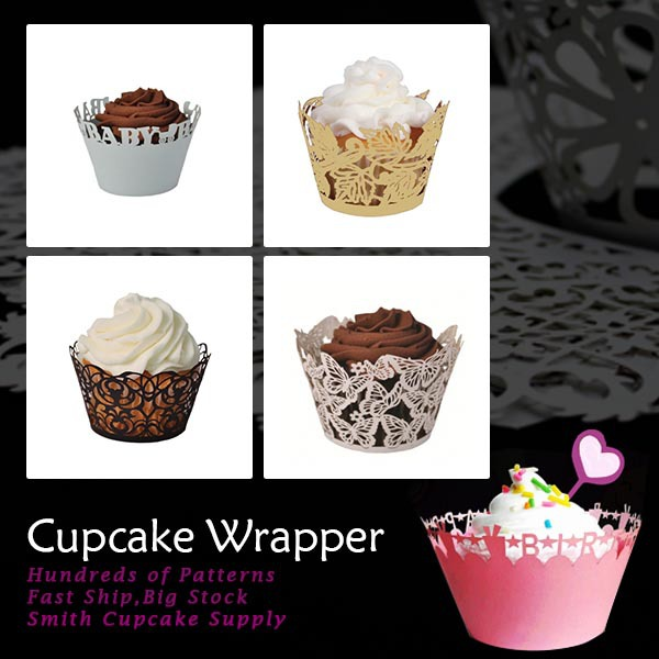 72 pcs Assorted 6 patterns Birthday Cupcake Wrappers Baking Wrap(China (Mainland))