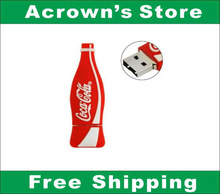 Free Shipping Coca Cola Bottle Shape Memory Storage USB 2.0 Flash Drive Hot!(China (Mainland))