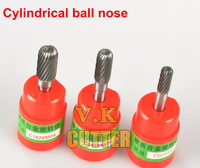 3x Cylindrical Ball Nose Single Cut Dia.6*16*6mmSHK Carbide Rotary Burrs, for Electric Tool Pneumatic Tool,Free Shipping