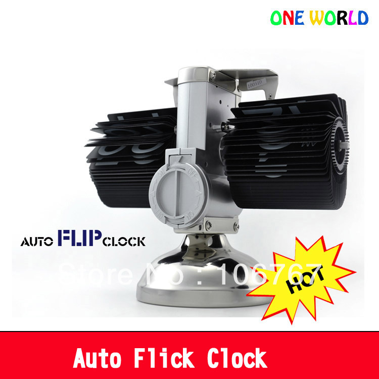 original neoteric flip clock mechanism auto page turning table desk clock 12-hour system(China (Mainland))