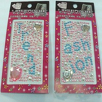 6sheets rhinestone stickers, Crystal Diamond adhesive sheet sticker free shipping