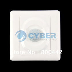 New AC 100-250V Infrared Save Energy Motion PIR Sensor Automatic Light Switch White TK0524(China (Mainland))