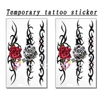 roses for arm waist Good quality Temporary tattoos Waterproof tattoo stickers body art Painting wholesale