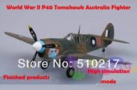 free ship 1/72 finished world war II piston propeller fighter model military aircraft modelP40 Tomahawk Australia  fighter