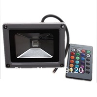 New LED Spotlight Flood Light Garden Lamp 85-265V Waterproof 10W RGB Color Free Shipping  710185