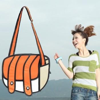 2013 NEW DESIGN cartoons bag camera bag blue 3d three-dimensional shoulder bag messenger bag women's handbag FREE SHIPPING