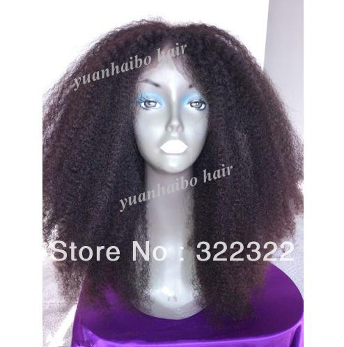top quality 18inch 1b# afro kinky curl lace front wig for black women free shipping(China (Mainland))