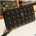 Skull Heads Purse,Lady&#39;s wallet,Fashion PU Leather Purse &amp; Card Holders for Ladies,Promotion Wallets Free Shipping,LQ158