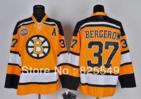 Free Shipping,Cheap Wholesale Ice Hockey Jersey,Boston  #37 Patrice Bergeron Jerseys,Embroidery logos,Size 48-56,Mix order